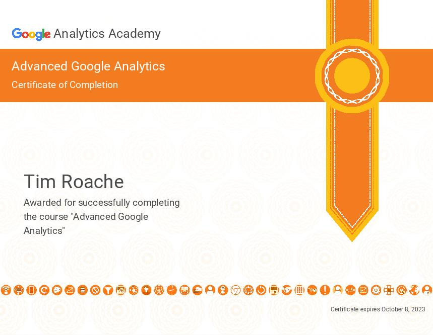 Advanced Google Analytics Certification