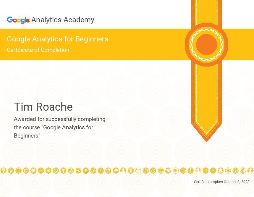 Google Analytics for Beginners Certification