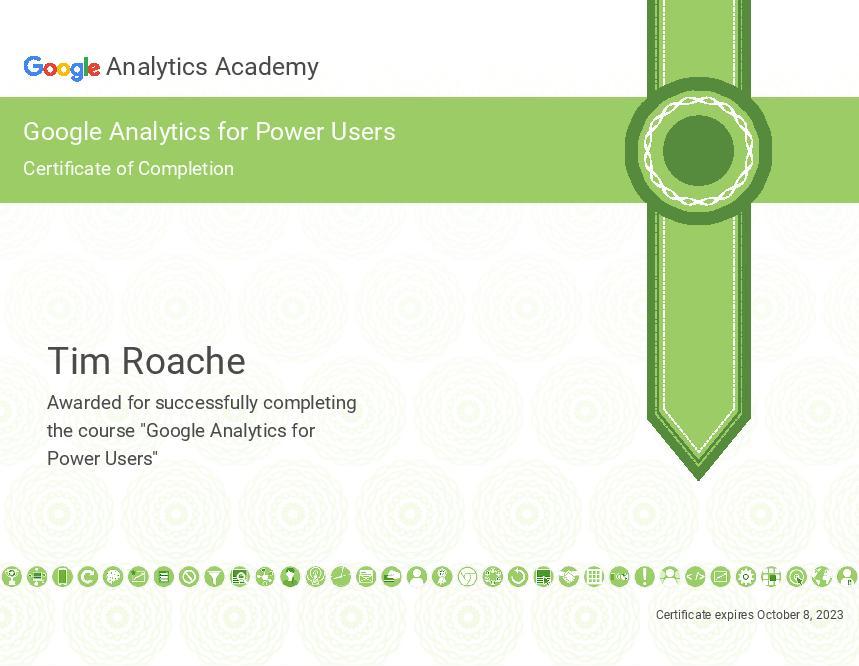 Google Analytics Power User Certification